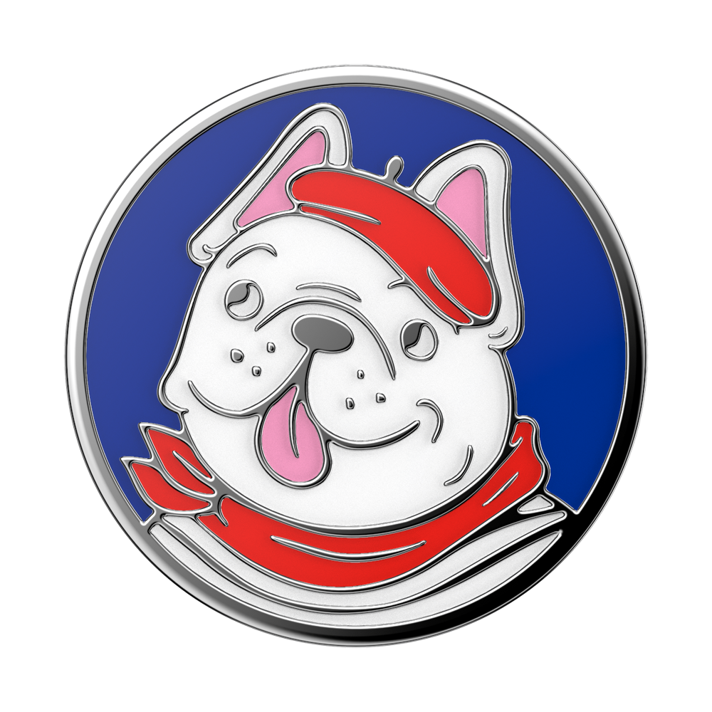 Swappable Enamel Frenchie, PopSockets
