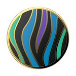 Enamel Wild Stripe Black, PopSockets