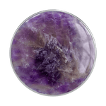 Swappable Genuine Amethyst Gemstone, PopSockets