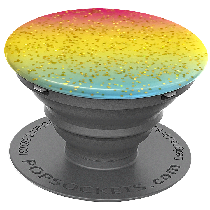 PopSockets Grip Glitter Rainbow Showers (Gloss Surface), PopSockets