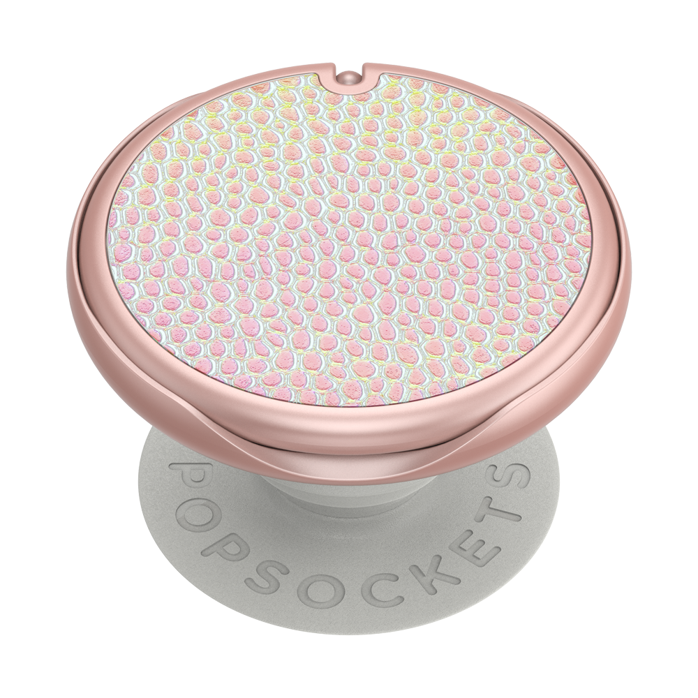 Swappable PopMirror Iridescent Pebbled Blush, PopSockets