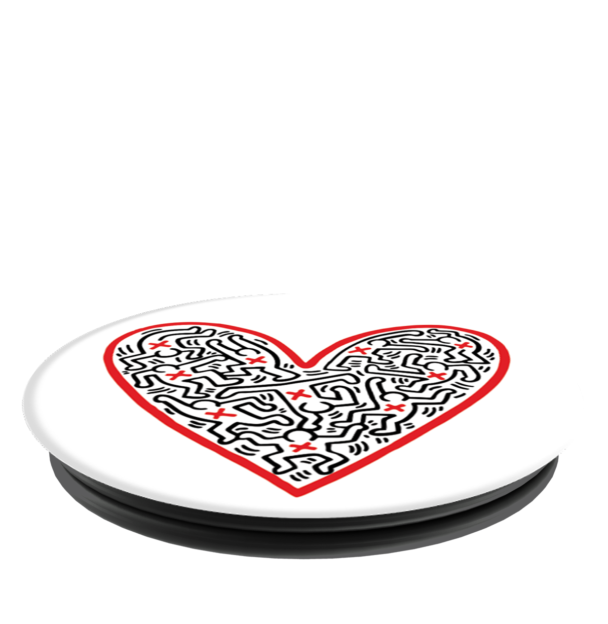 PopSockets Grip Keith Haring- Figures In A Heart