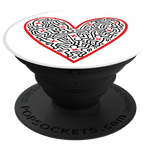 PopSockets Grip Keith Haring- Figures In A Heart, PopSockets