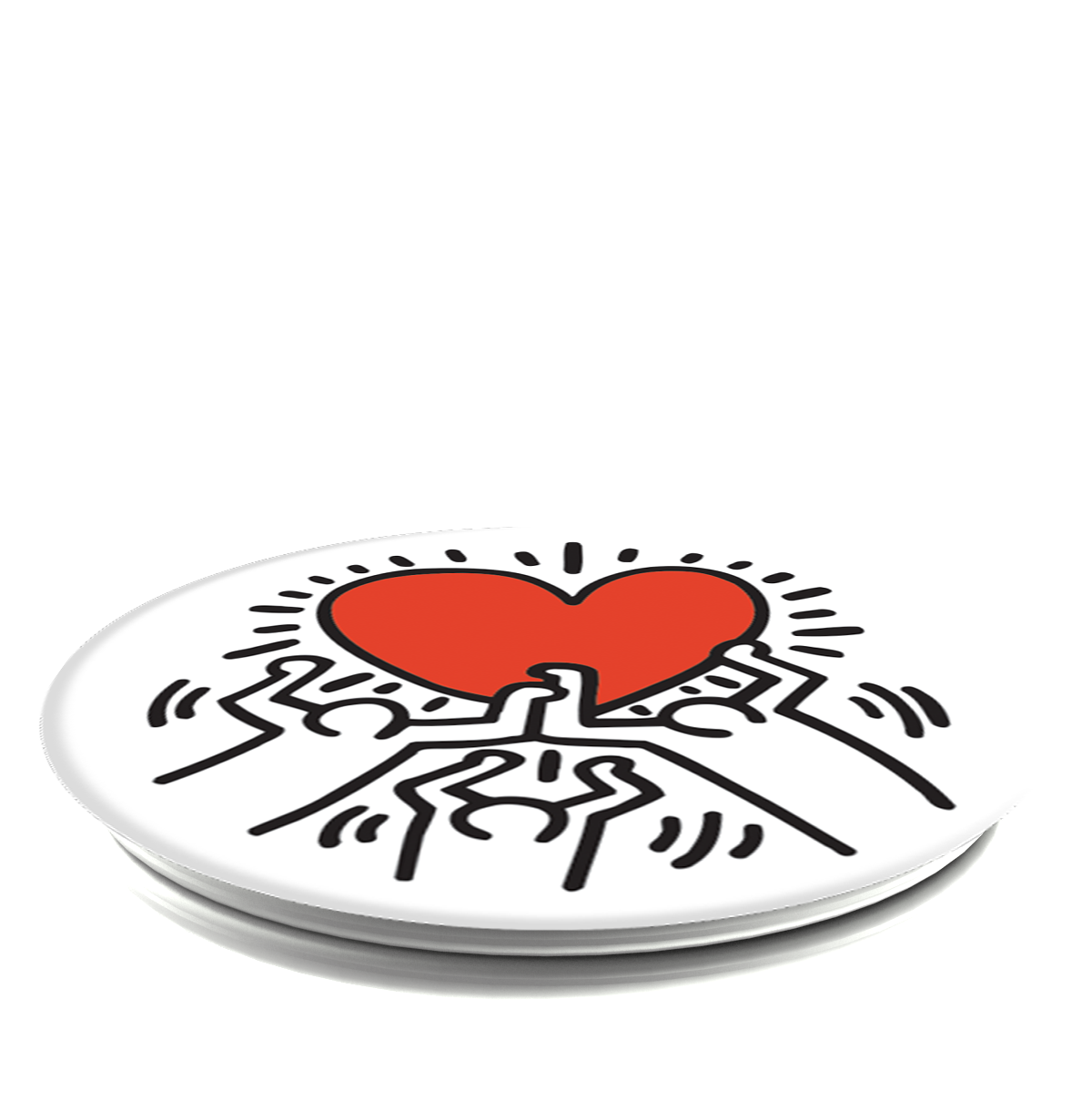 PopSockets Grip Keith Haring- 3 Persons Holding Heart