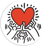 PopSockets Grip Keith Haring- 3 Persons Holding Heart, PopSockets