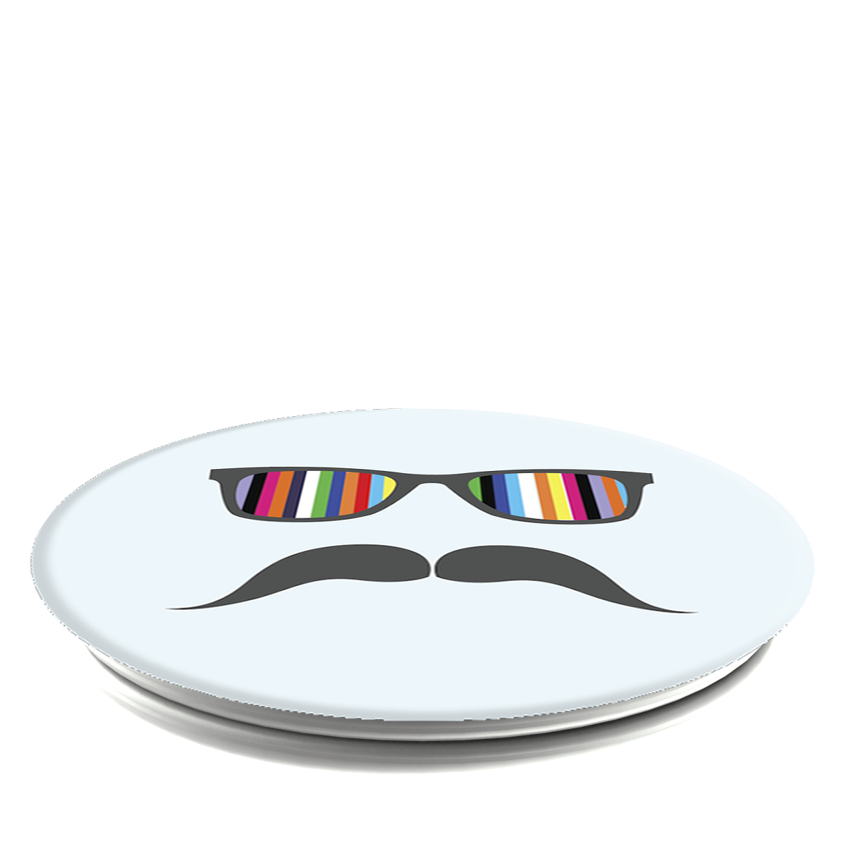PopSockets Grip Moustache Rainbow