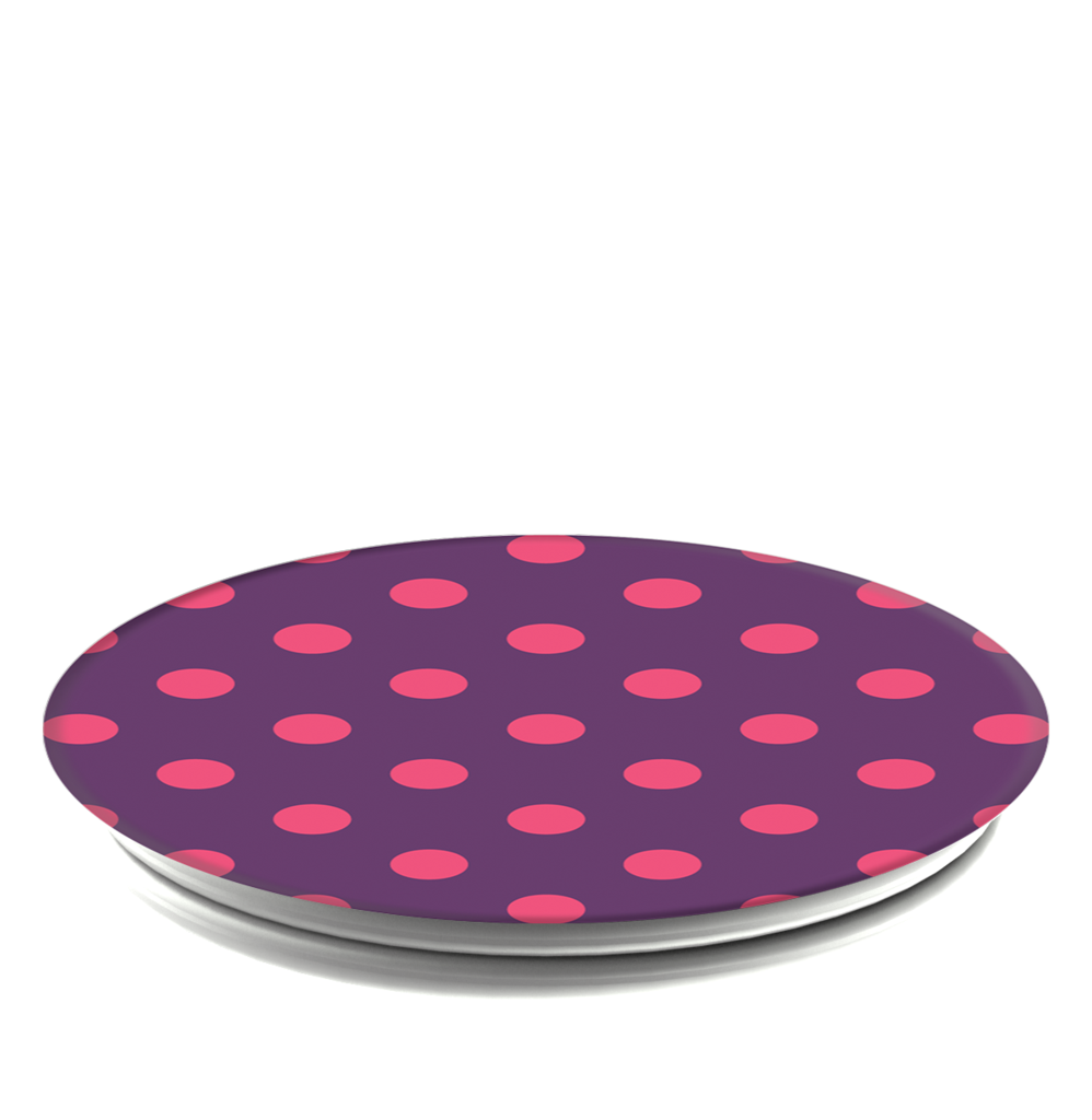 PopSockets Grip Polka Time Purple