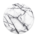 Swappable Dove White Marble, PopSockets