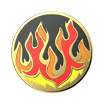 Swappable Enamel Flame On Black, PopSockets