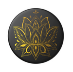 Swappable Golden Prana Black, PopSockets