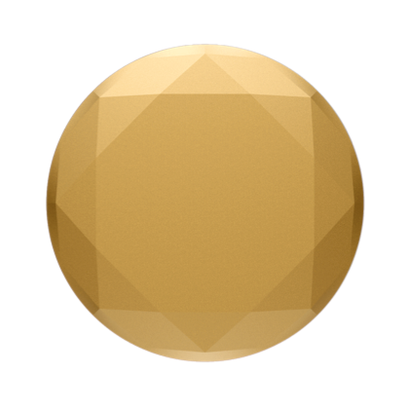 Swappable Metallic Diamond Medallion Gold, PopSockets