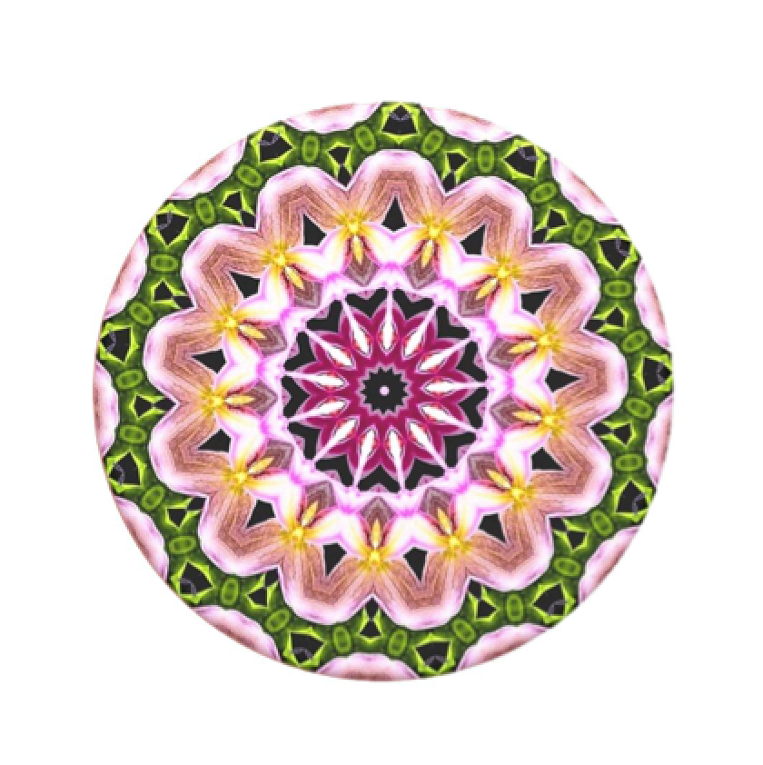 Swappable Orchid Mandala, PopSockets