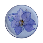 Swappable Pressed Flower Larkspur Purple, PopSockets