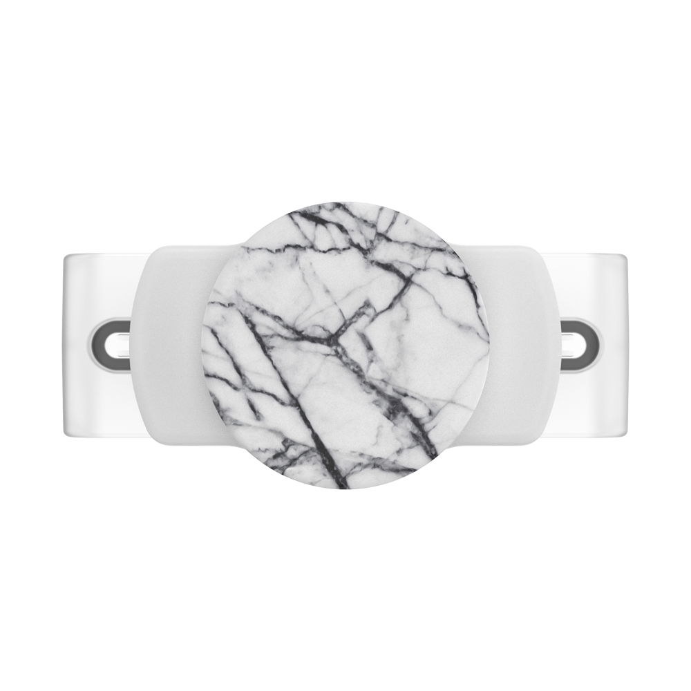 PopGrip Slide Stretch Dove White Marble, PopSockets