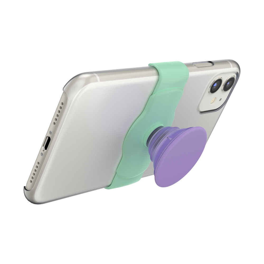 PopGrip Slide Stretch Iris Mint (Pre-Order), PopSockets