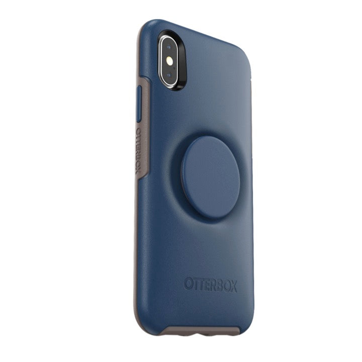 Otter + Pop Symmetry Series Case Go To Blue For iPhone X/XS