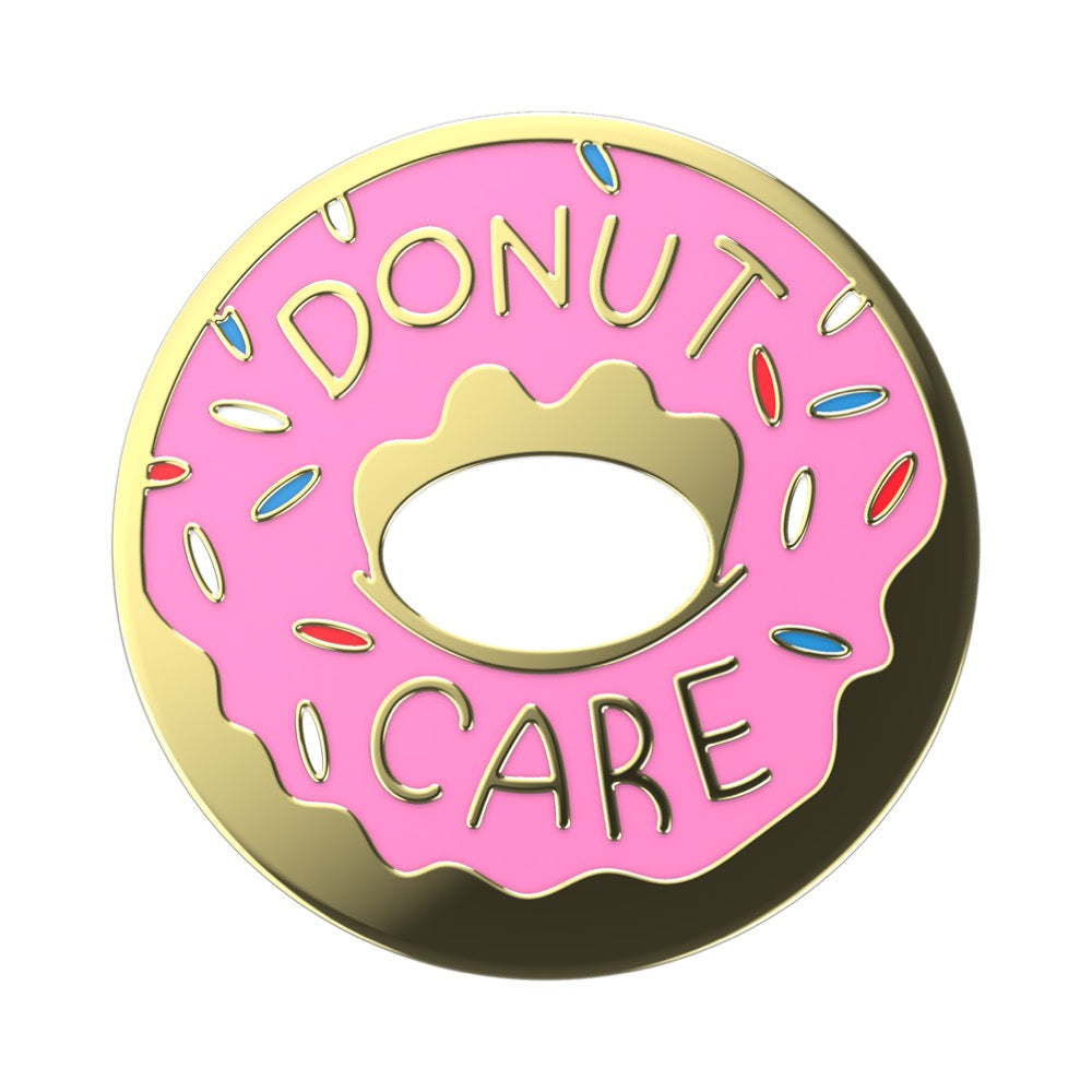 Swappable Enamel Donut Care, PopSockets