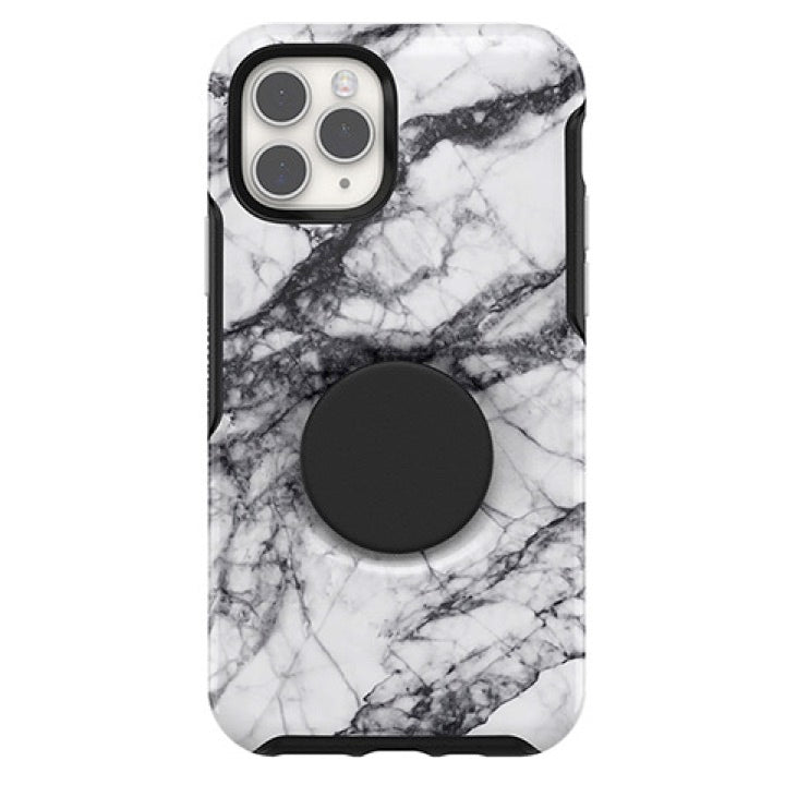 Otter + Pop Symmetry Series Case White Marble For iPhone 11, PopSockets
