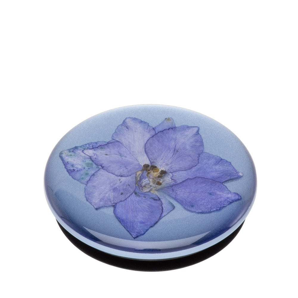 Swappable Pressed Flower Larkspur Purple