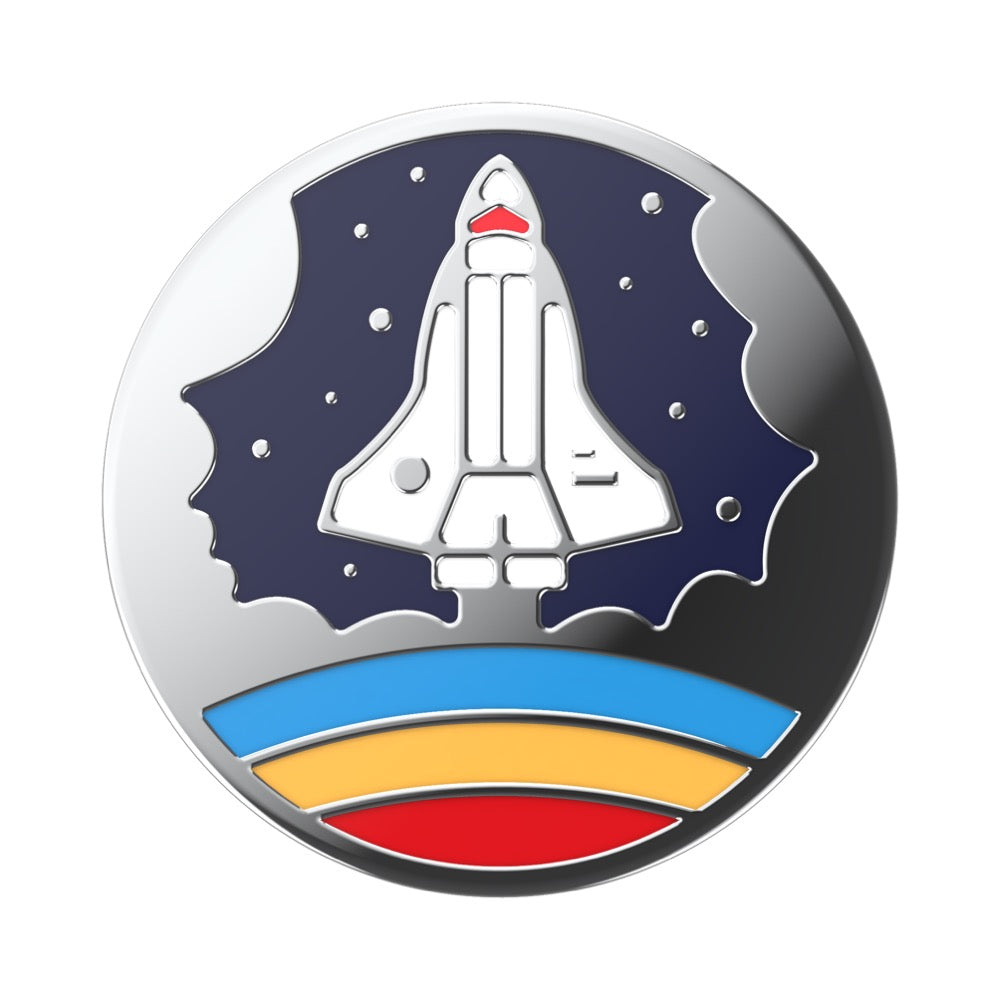 Swappable Enamel Space Shuttle Navy, PopSockets