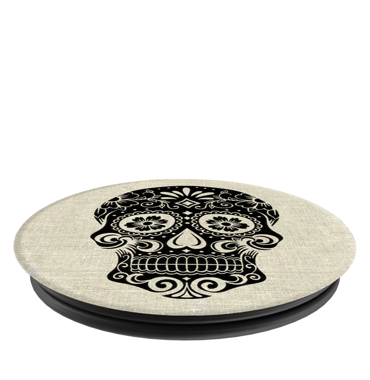 PopSockets Grip Sugarskull On Linen