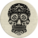 PopSockets Grip Sugarskull On Linen, PopSockets