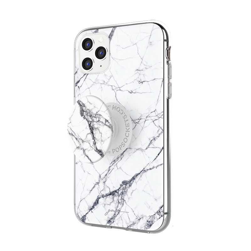 Gosh + Pop Hybrid iPhone 11 Pro Case White Horse, PopSockets