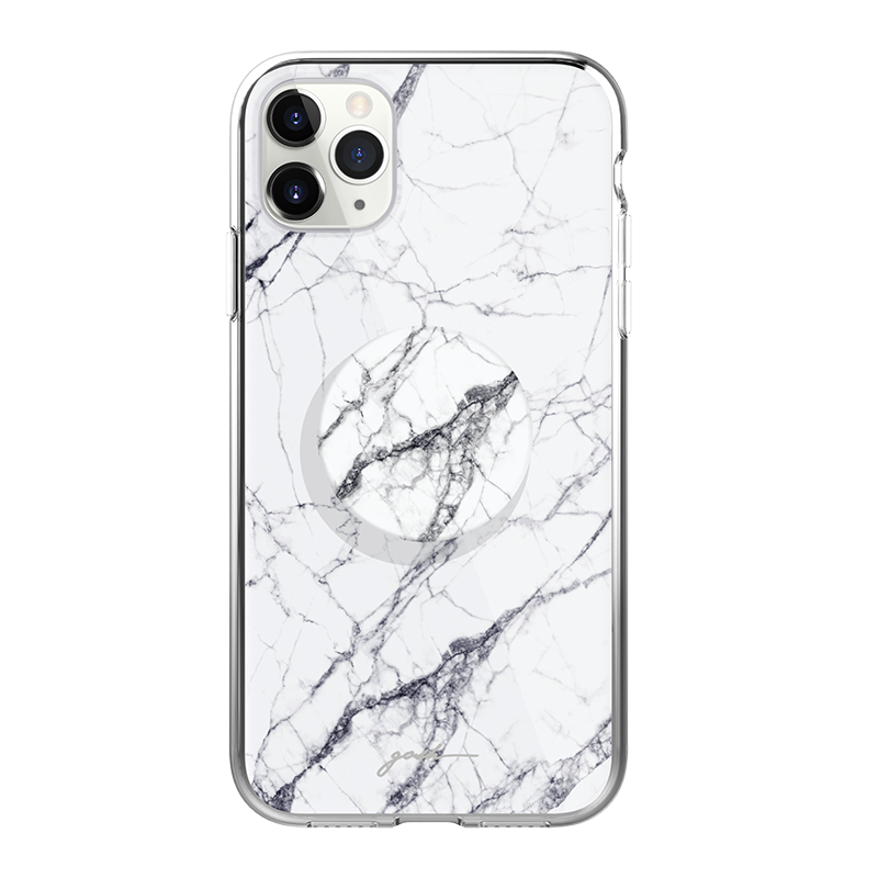 Gosh + Pop Hybrid iPhone 11 Pro Max Case White Horse, PopSockets