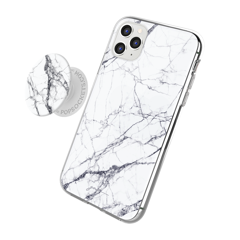 Gosh + Pop Hybrid iPhone 11 Case White Horse, PopSockets
