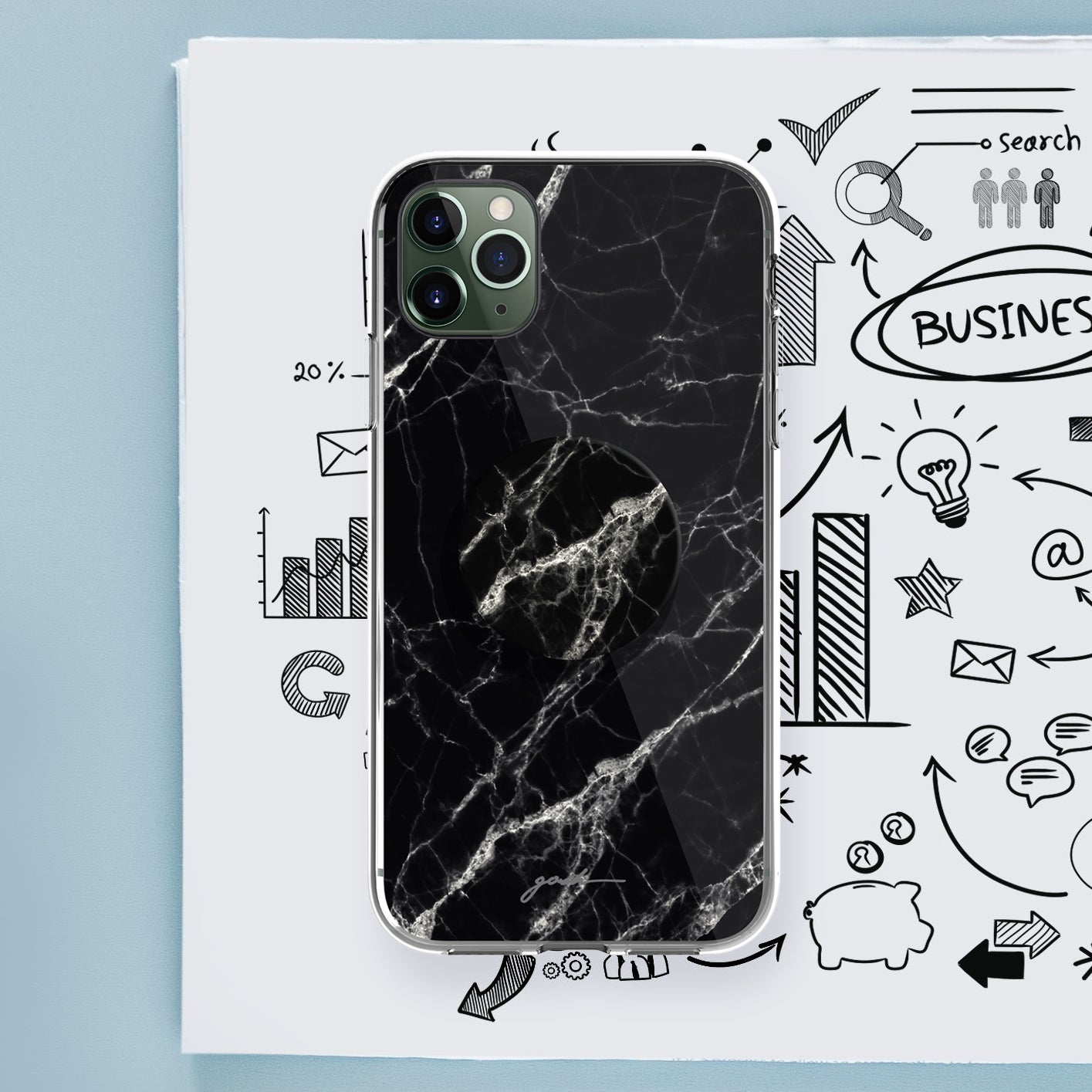 Gosh + Pop Hybrid iPhone 11 Pro Case Dark Knight, PopSockets