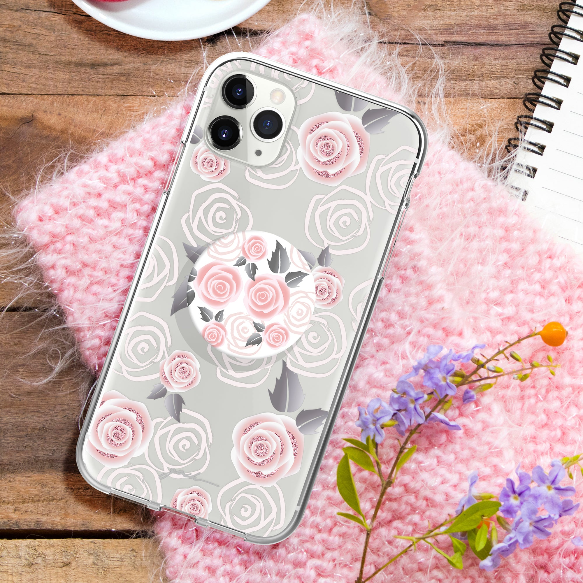 Gosh + Pop Hybrid iPhone 11 Pro Case Rosy Loves