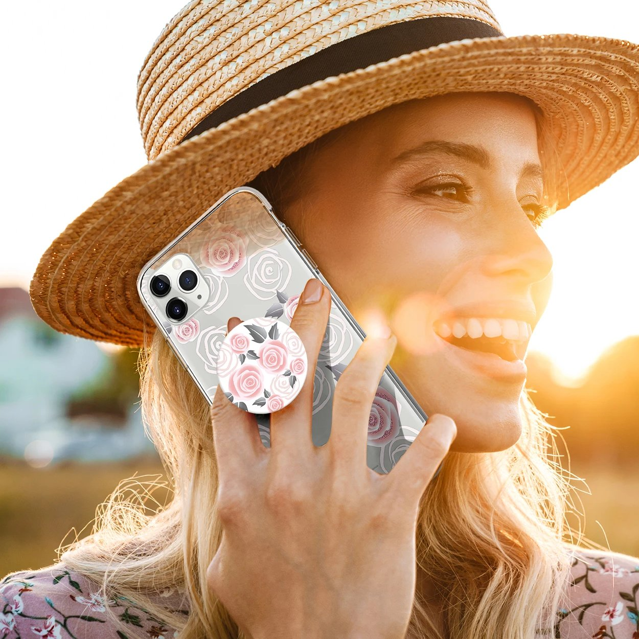 Gosh + Pop Hybrid iPhone 11 Pro Case Rosy Loves, PopSockets