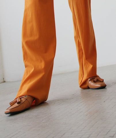 PRADA 90s Orange Slip-On Loafers 37,5