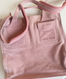 MIU MIU Pink Suede Shoulder Bag