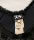 GIANFRANCO FERRE Faux Fur Top S