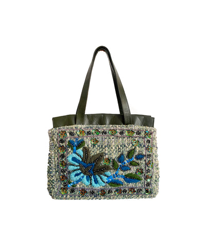 MOSCHINO Leather & Sequin Handbag