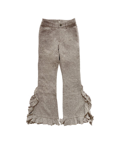 Wool Frill Pants S