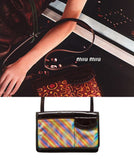 MIU MIU AW1999 Holographic Patent Leather Bag