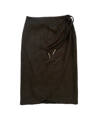 MUGLER Wool Wrap Skirt XXL