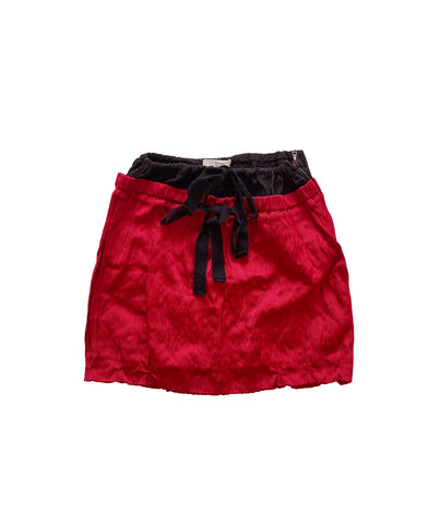 PRADA SS 2009 Carmine Mini Skirt S