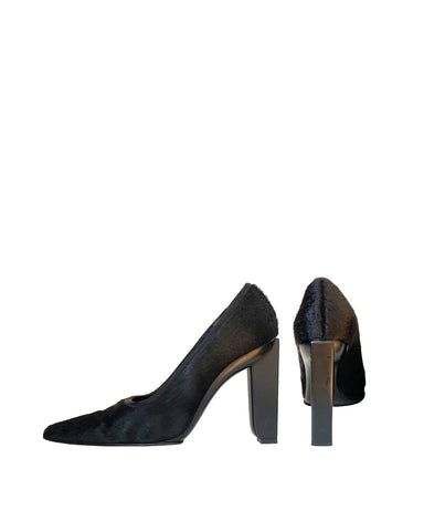 LAGERFELD Leather & Fur Pumps 39.5/40