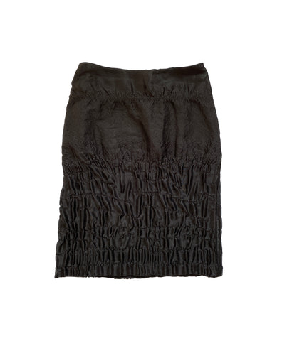 PRADA AW2007 Silk Lizard Skirt S