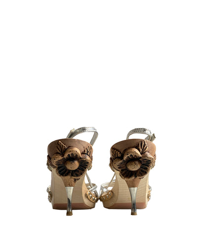 MIU MIU Engraved Clogs 39