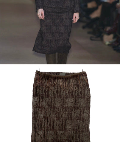FENDI FW 2002 Hair Skirt S