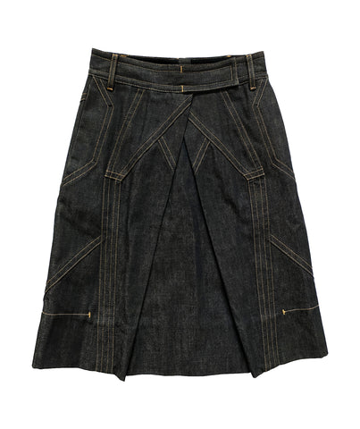 CHRISTIAN LACROIX Denim Skirt 38