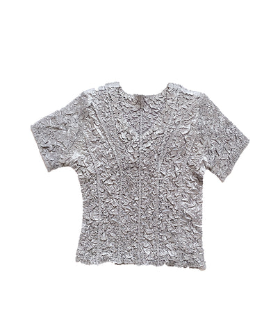 Silver Crumpled Tee ONE SIZE
