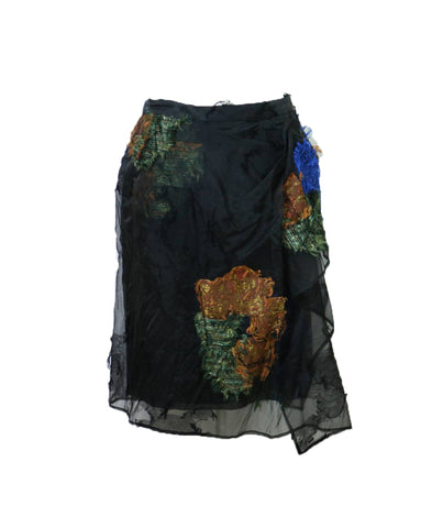 DRIES VAN NOTEN Silk Skirt S