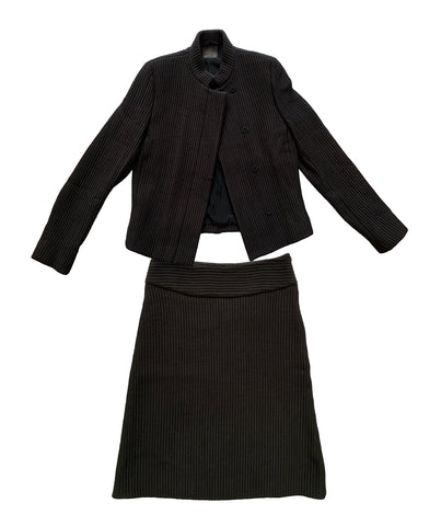 FENDI Two-Piece Quilted Silk Suit S