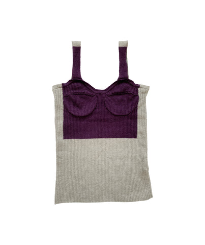 MARGIELA MM6 Wool Corset Top XS
