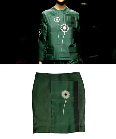 PRADA SS2013 Silk Flower Skirt S